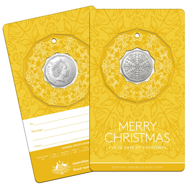 Thumbnail for 2019 50c Uncirculated Coin - The Twelve Days of Christmas