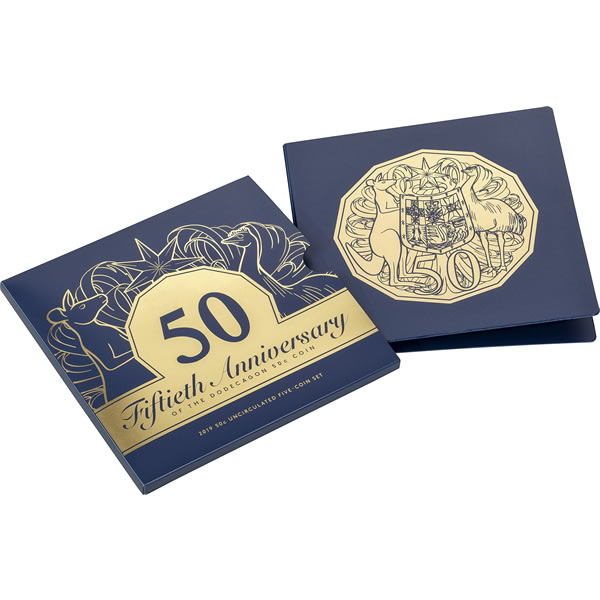 Thumbnail for 2019  50th Anniversary of the Dedecagon 50c Coin 5 Coin Set