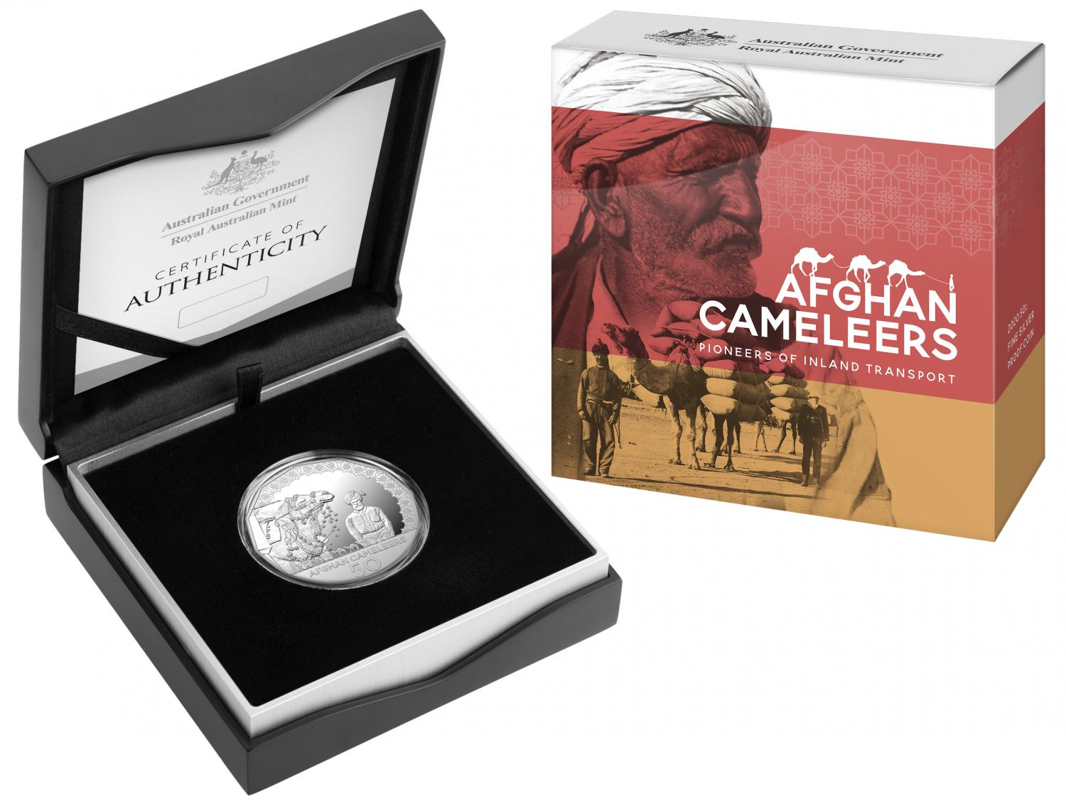 Thumbnail for 2020 Afghan Cameleers Silver Fifty Cent Proof Coin