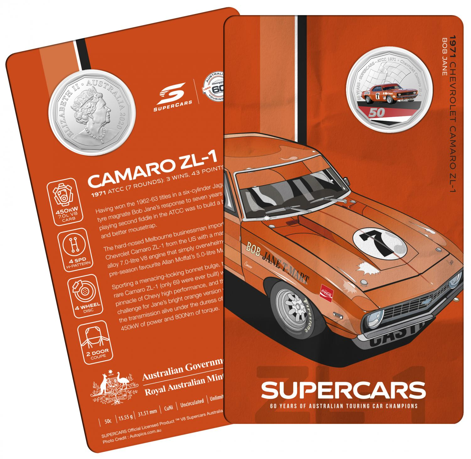 Thumbnail for 2020 60 Years of Australian Touring Car Champions Chevrolet Camero.  Order now for Delivery mid November!