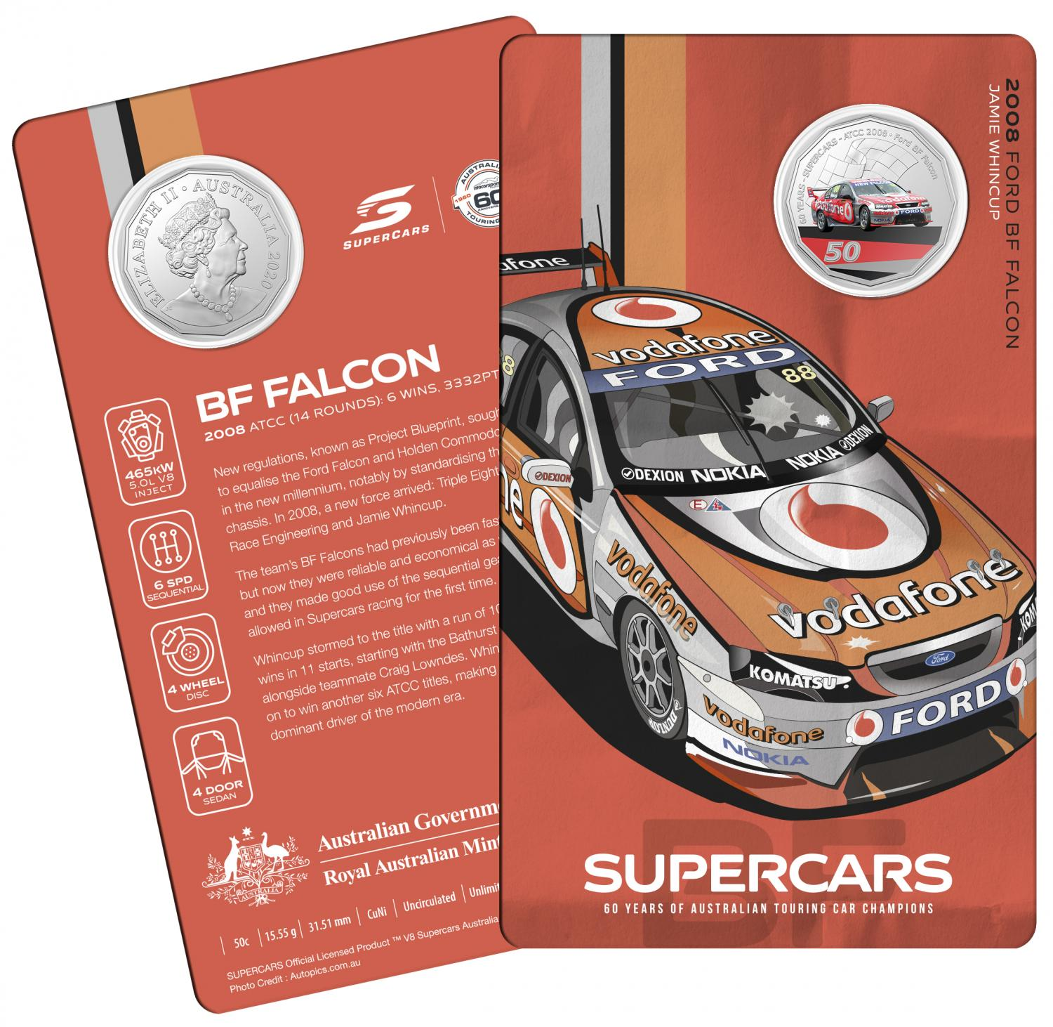 Thumbnail for 2020 60 Years of Australian Touring Car Champions Ford BF Falcon.  Order now for Delivery mid November!