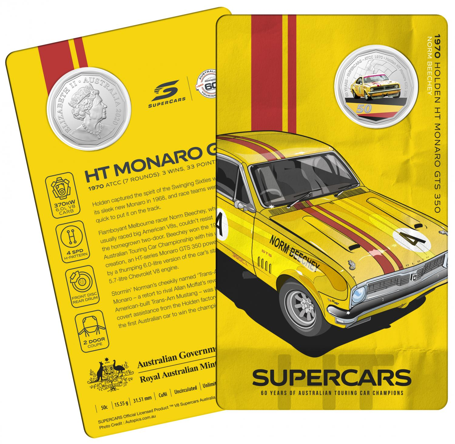Thumbnail for 2020 60 Years of Australian Touring Car Champions Holden HT Monaro.  Order now for Delivery mid November!