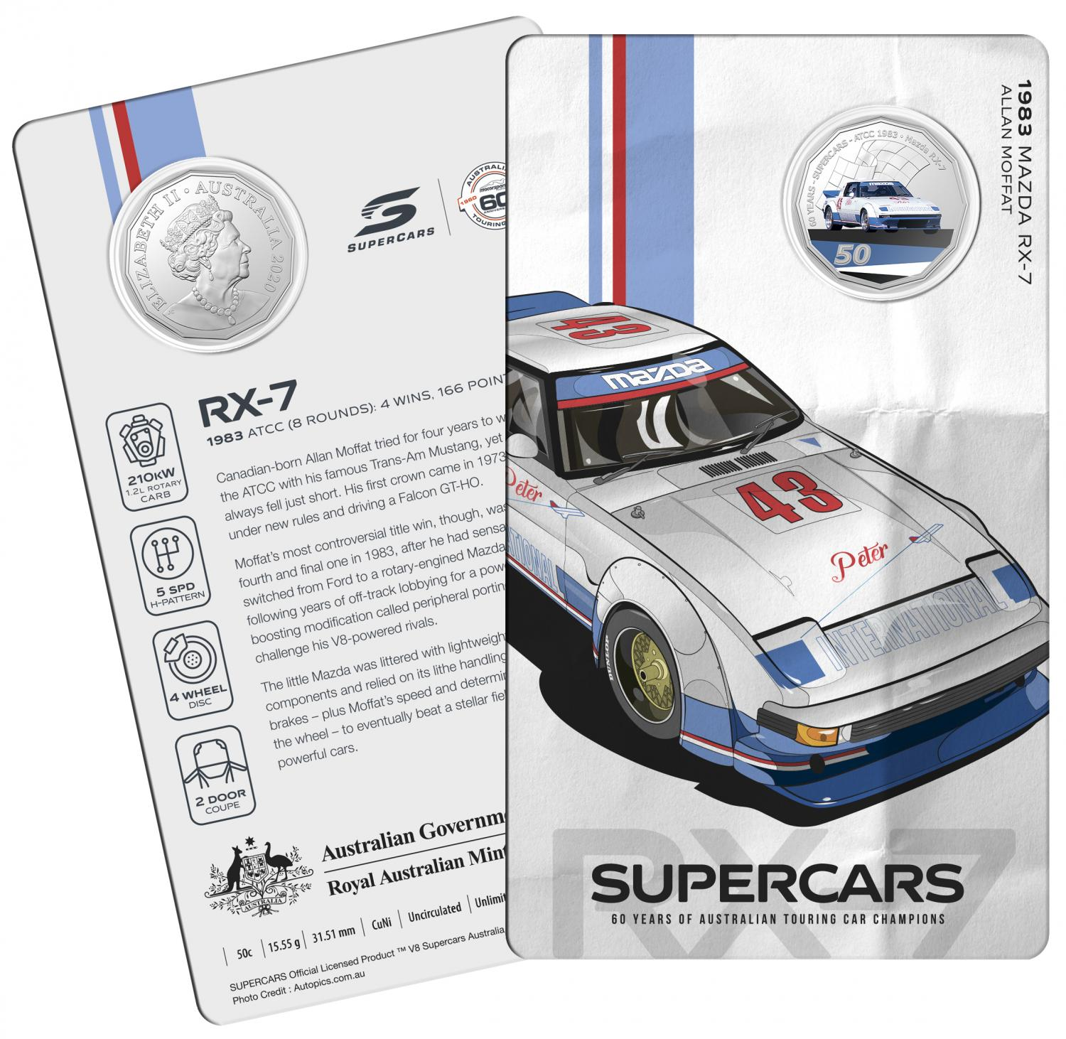 Thumbnail for 2020 60 Years of Australian Touring Car Champions Mazda RX7.  Order now for Delivery mid November!
