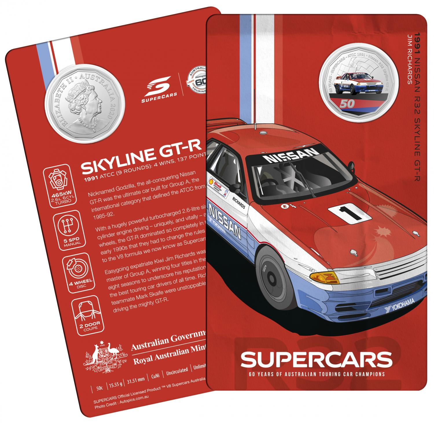 Thumbnail for 2020 60 Years of Australian Touring Car Champions Nissan Skyline.  Order now for Delivery mid November!