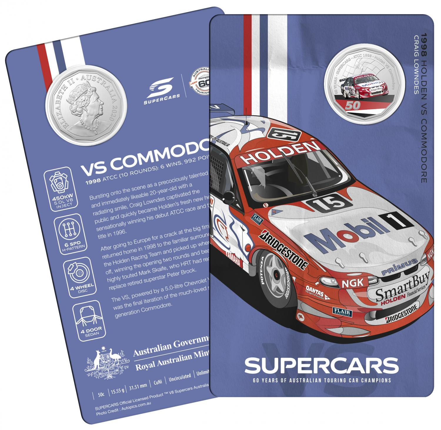 Thumbnail for 2020 60 Years of Australian Touring Car Champions Holden VS Commodore.  Order now for Delivery mid November!