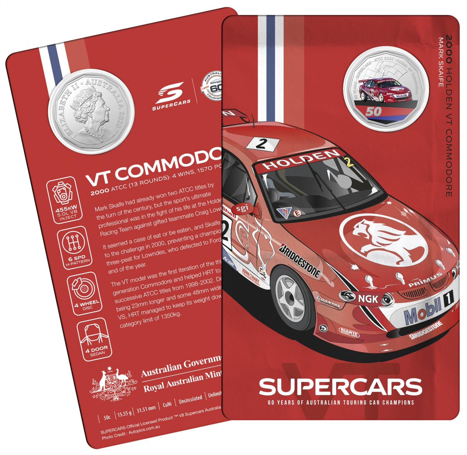 Thumbnail for 2020 60 Years of Australian Touring Car Champions Holden VT Commodore.  Order now for Delivery mid November!