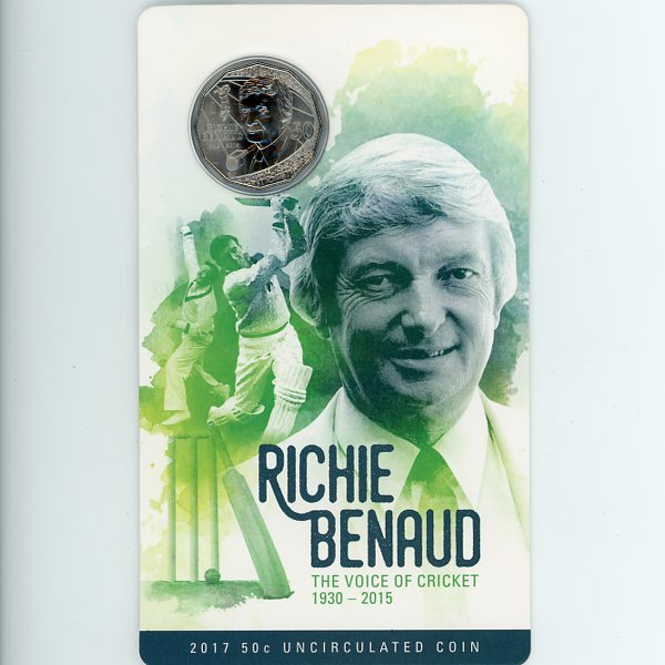 Thumbnail for 2017 Richie Benaud Coloured Fifty Cent