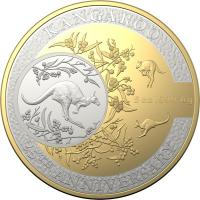 Image 2 for 2018 25th Anniversary of Kangaroo Series Selectively Gold Plated $10.00 Proof