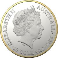 Image 3 for 2018 25th Anniversary of Kangaroo Series Selectively Gold Plated $10.00 Proof