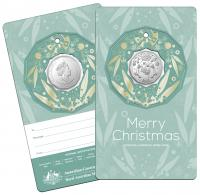 Image 2 for 2020 Christmas .50¢ UNC Coin on Card Decoration - Set of 5 Different Colours - DELAYED  DELIVERY