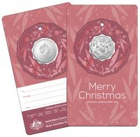 Image 4 for 2020 Christmas .50¢ UNC Coin on Card Decoration - Set of 5 Different Colours - DELAYED  DELIVERY