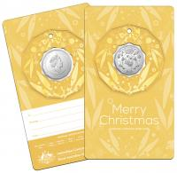 Image 6 for 2020 Christmas .50¢ UNC Coin on Card Decoration - Set of 5 Different Colours - DELAYED  DELIVERY