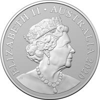 Image 2 for 2020 $1 Kangaroo Series - Bounding Red Kangaroos 1oz Silver Frosted UNC Coin in Capsule