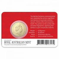 Image 2 for 2020  QANTAS Centenary - Celebrating 100 Years $1 AlBr UNC Coin on DCPL Card