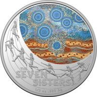 Image 2 for 2020 Star Dreaming - The Seven Sisters $1 Coloured Half Oz Fine Silver UNC Coin