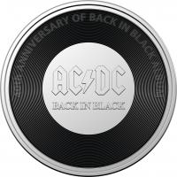 Image 2 for 2020 20c Coloured Uncirculated Coin 45th Anniversary ACDC - Back In Black  Album Release