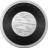 Image 2 for 2020 20c Coloured Uncirculated Coin 45th Anniversary ACDC - T.N.T. Album Release