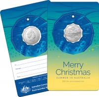 Image 1 for 2021 .50¢ Christmas Decoration CuNi UNC Coin - Set of 5
