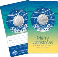 Image 4 for 2021 .50¢ Christmas Decoration CuNi UNC Coin - Set of 5