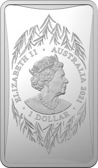 Image 2 for 2021 Lunar Year of the Ox $1 Half oz Silver Frosted UNC INGOT in Box