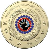 Image 3 for 2021 $2 Indigeneous Military Service Coloured Circulating Coin on DCPL Card (No mintmark)