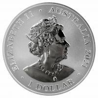 Image 2 for 2021 $1 Great White Shark 1oz  99.9 Silver Brilliant UNC Bullion Investment Coin - Australia's Most dangerous Series