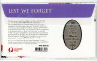 Image 2 for 2021 Lest We Forget Medallic Stamp & Medallion Aust Post Cover