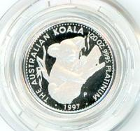 Image 1 for 1997 One Twentieth oz Proof Platinum Koala in Capsule