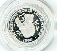 Image 1 for 1990 One Twentieth oz Proof Platinum Koala in Capsule