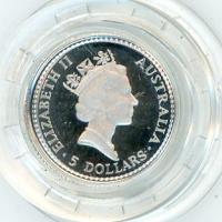 Image 2 for 1991 One Twentieth oz Proof Platinum Koala in Capsule
