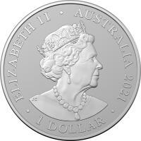 Image 2 for 2021 Australia Zoo - Cheetah 1oz Silver Bullion Coin