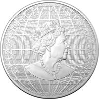 Image 2 for 2021 $1 1oz Silver Investment Coin - Beneath the Southern Skies Platypus Silhouette