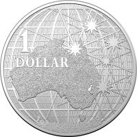 Image 1 for 2021 $1 1oz Silver Investment Coin - Beneath the Southern Skies Platypus Silhouette