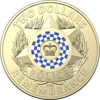 Image 1 for 2019 $2 Coin Rolls - Police Remembrance