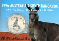 Image 1 for 1996 One Dollar 1oz Silver Kangaroo