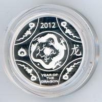 Image 2 for 2012 Lunar Series - Year of the Dragon $1 Silver Proof Coin