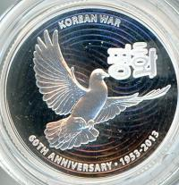 Image 2 for 2013 $1 Silver Proof Coin - 60th Anniversary Korean War