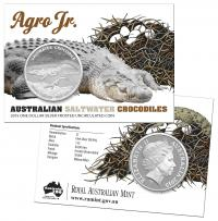 Image 1 for 2015 Australian Silver 1oz Saltwater Crocodile - Agro Jr