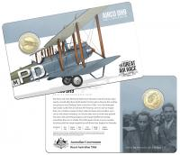 Image 1 for 2019 Centenary off the Great Air Race Uncirculated $1.00 - Airco DH9