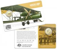 Image 1 for 2019 Centenary off the Great Air Race Uncirculated $1.00 - Vickers Vimy