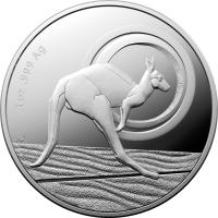 Image 2 for 2021 $1.00 Fine Silver Proof Kangaroo - Outback Majesty