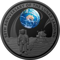 Image 2 for 2019 $5.00 Nickel Plated Coloured Silver Proof Domed Coin - 50th Anniversary of the Lunar Landing