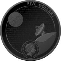Image 3 for 2019 $5.00 Nickel Plated Coloured Silver Proof Domed Coin - 50th Anniversary of the Lunar Landing