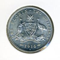 Image 1 for 1916 George V Florin - aUNC