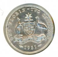 Image 1 for 1931 George V Australian Florin aUNC