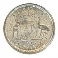 Image 1 for 1946 George VI Florin EF