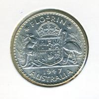 Image 1 for 1947 George VI Florin - good EF