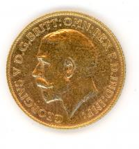 Image 2 for 1918P Australian George V Gold Half Sovereign
