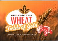 Image 1 for 2012 Two Coin Mint Set- Australian Wheat Fields of Gold