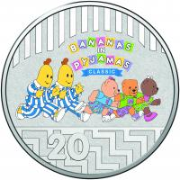 Image 2 for 2017 Bananas in Pyjamas Coloured Frosted Uncirculated Two Coin Set